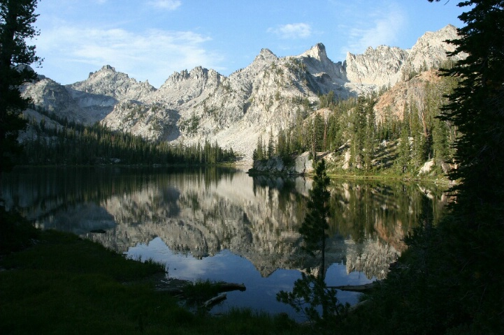Alice Lake and the Sawtooth Mountains