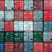 Containers on the...