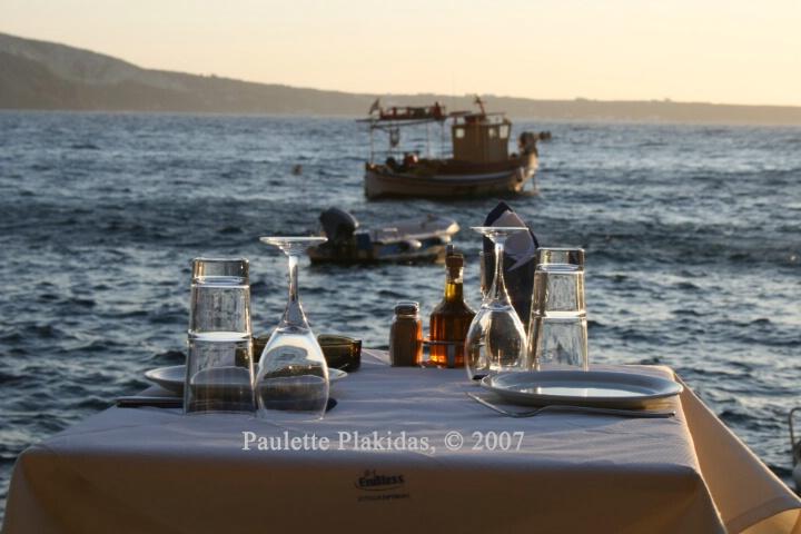Dinner for Two in Santorini
