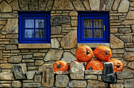 Blue Windows & Pumpkins