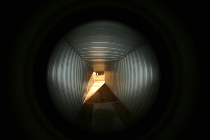 Inside the time tunnel?