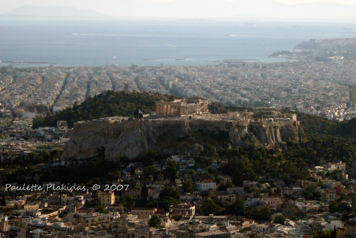 The Acropolis from Lycavittos Hill