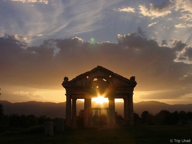 Sunset on the Tetropylon of Aphrodisias, Turkey