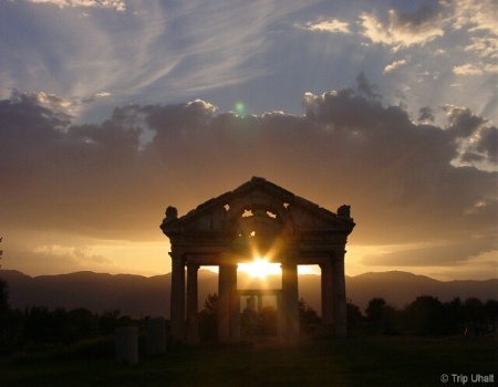 Sunset on the Tetropylon of Aphrodisias, Turkey