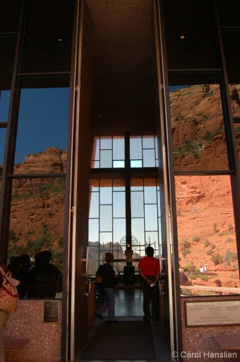 Reflections at Chapel of the Holy Cross.  Sedona,