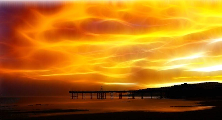 Flaming dawn