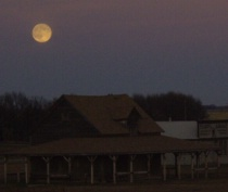 Moon over the Ingalls Homestead