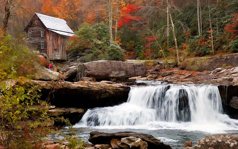 Glade Creek Mill, again
