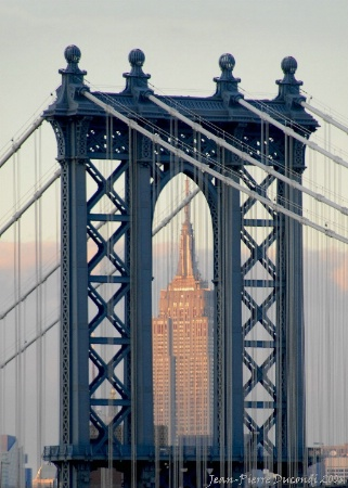 Empire State Building thru Manhattan Bridge