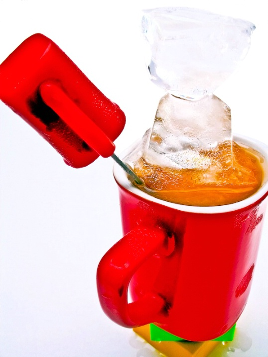 Ice Stacked in Red Cup, v.2, Edit C