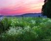 spring sunset at ...