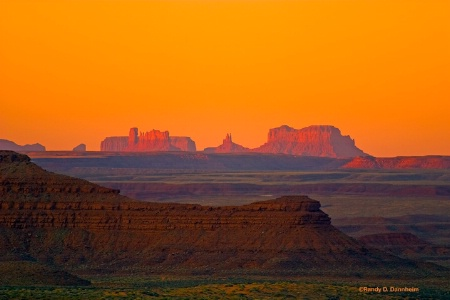 Monument Valley Morning Golden Glow