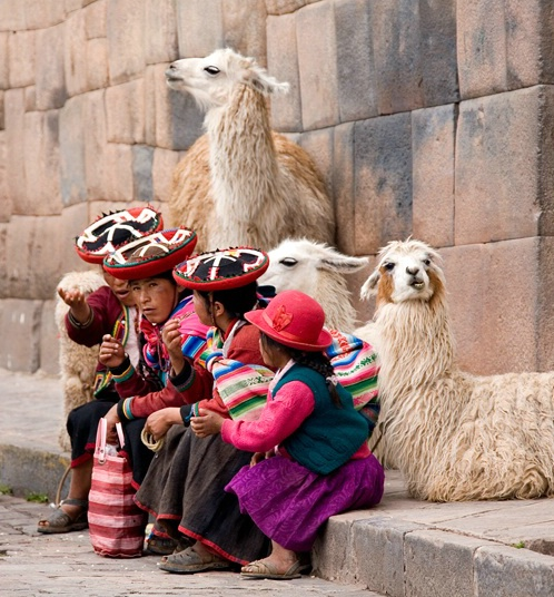 Family with llamas-Cusco, Peru - ID: 5566050 © Stacey J. Meanwell