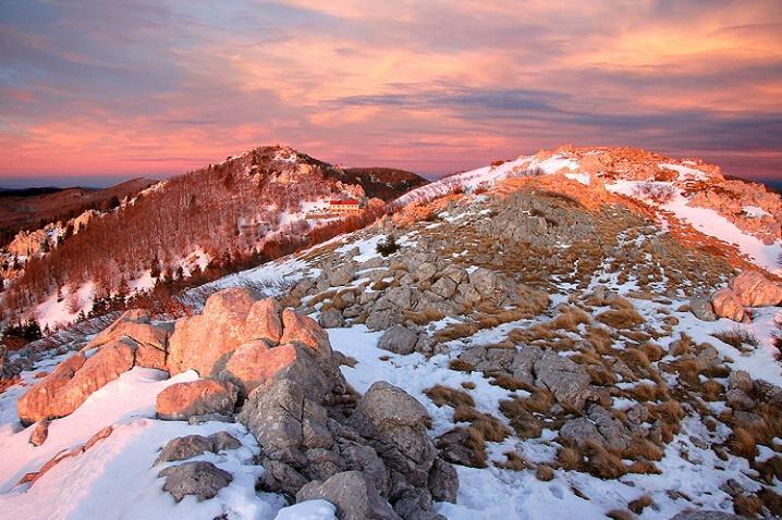 Sunset in National Park North Velebit