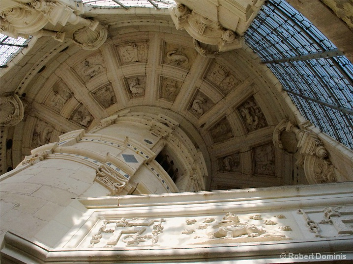 Renaissance Stairway, Chateau Chambord, France
