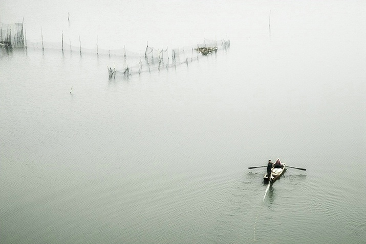 a scene at a lake