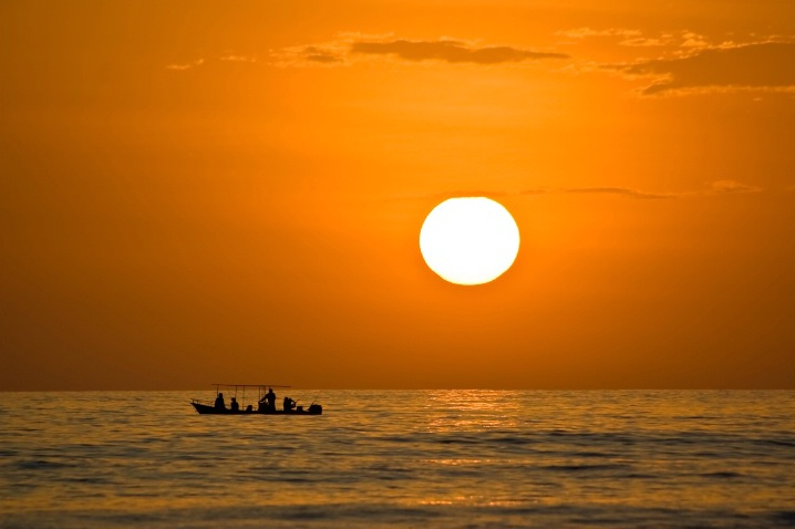 Fishing into the sunset.