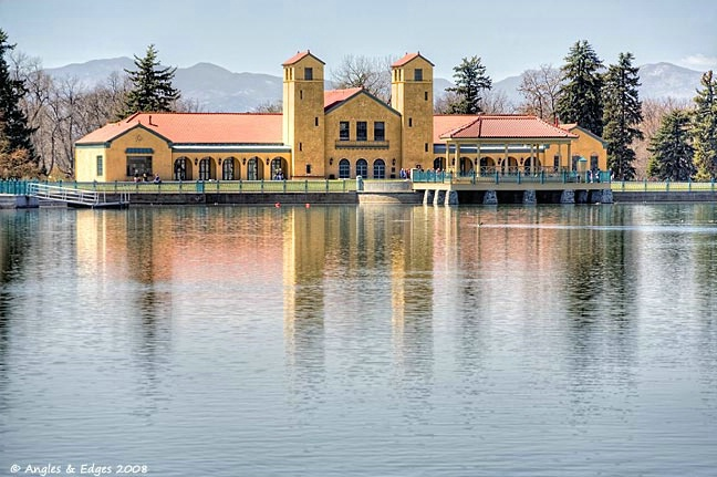 Boathouse on Ferril Lake