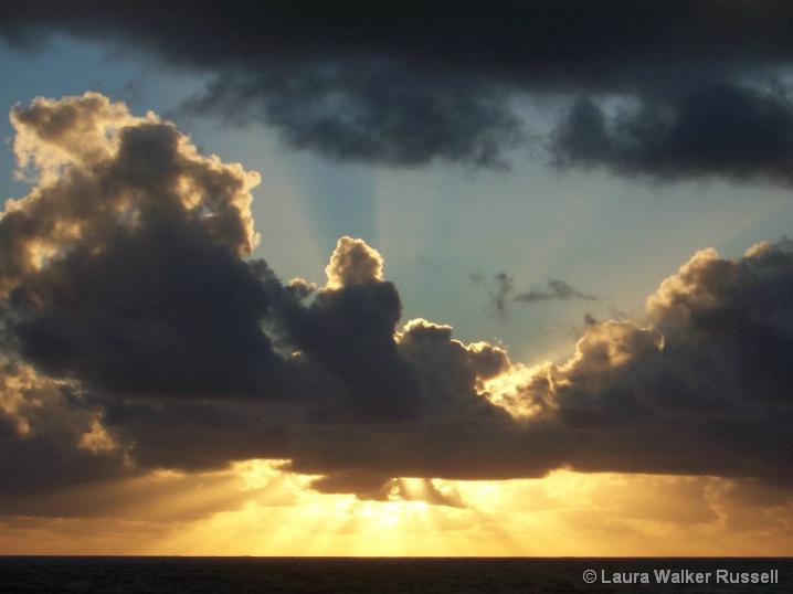 Rays of sun, Kauai, Hawaii
