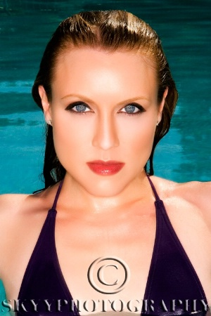 Kirsten in the Pool