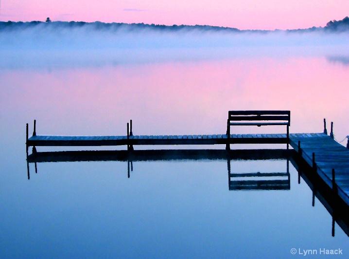 Morning Mist Rising on Lost Lake