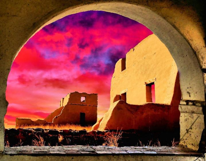 Ruin Sunset