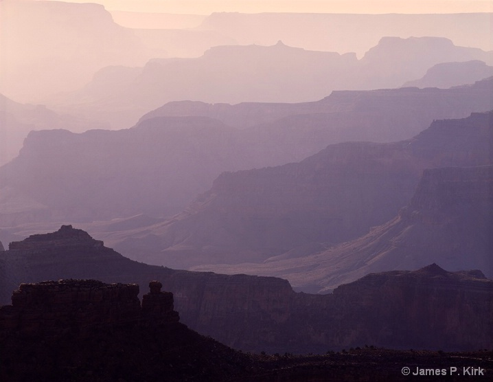 Smoky Sunset Grand Canyon