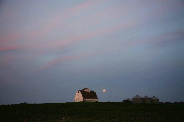 Full moon rising over farmland - ID: 6430537 © Jacqueline M. Stoken