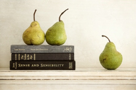 Three Books & Three Pears