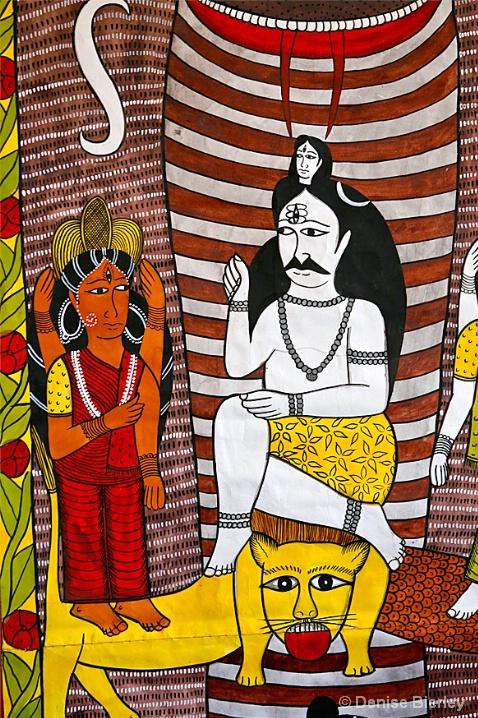 Indian Textile Detail - ID: 6461762 © Denise Bierley