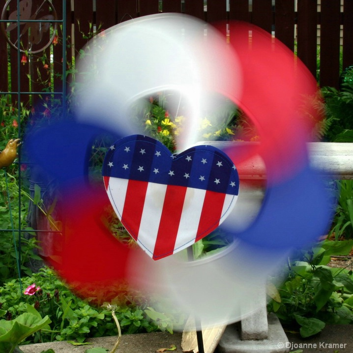 Spinning Red, White and Blue