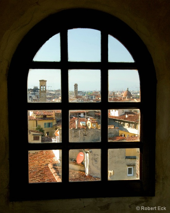 Florence Through The Tower Window - ID: 6509901 © Robert A. Eck