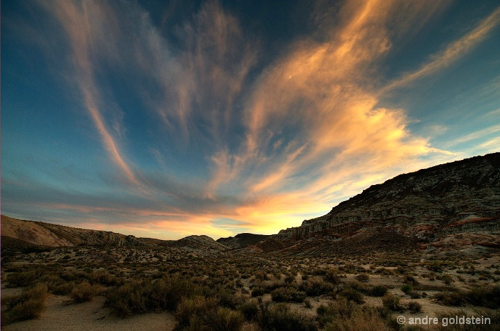 Sunset at Red Rock Canyon State Park
