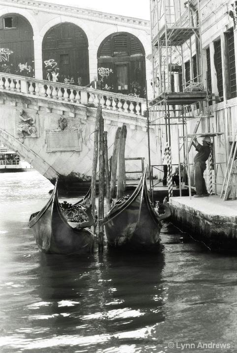 Gondolas in B/W - ID: 6581806 © Lynn Andrews