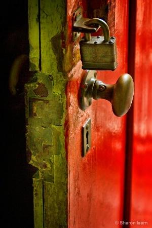 Lock on a Red Door