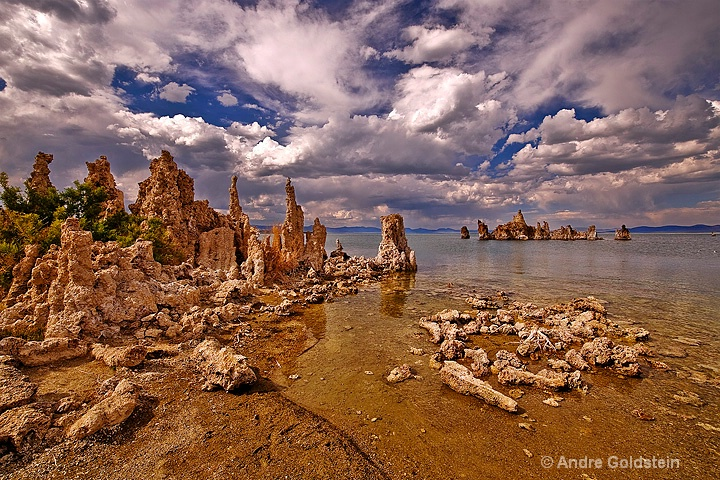 Storm passing over Mono Lake