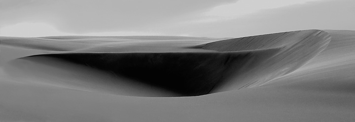 dunes abstract negative space