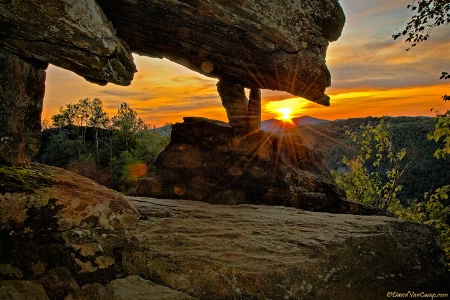 Sunset Under Chimney Mtn