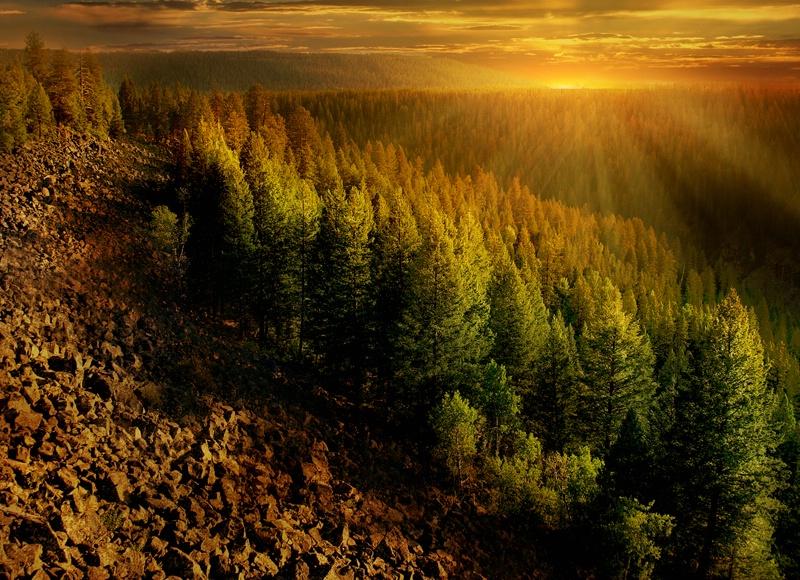 Mesa Falls Sunset