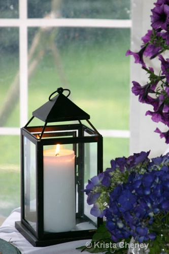 Lantern and flowers - ID: 6838205 © Krista Cheney