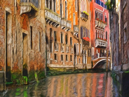 Venetian Canal - Painted