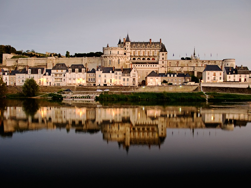 Amboise Chateau from across the Loire River