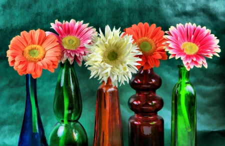 Bottle Daisies