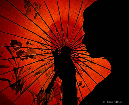 silhouette  with Umbrella