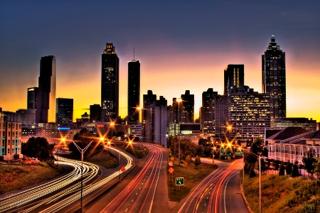 Atlanta's Colorful Skyine