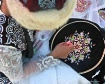 Kazakh embroidery...