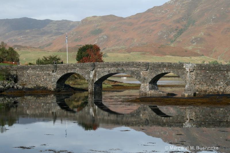 bridge to Eileen Dunan Castle, Scotland