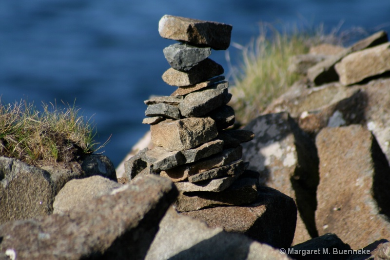 Stone cairn, near Uig, Isle of Skye, Scotland