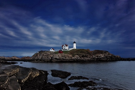 Nightfall at Cape Neddick