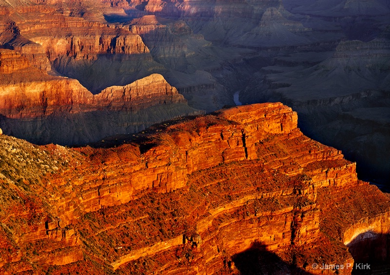 Sunrise Over the Alligator, Grand Canyon
